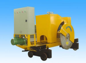 yellow slab cutting machine